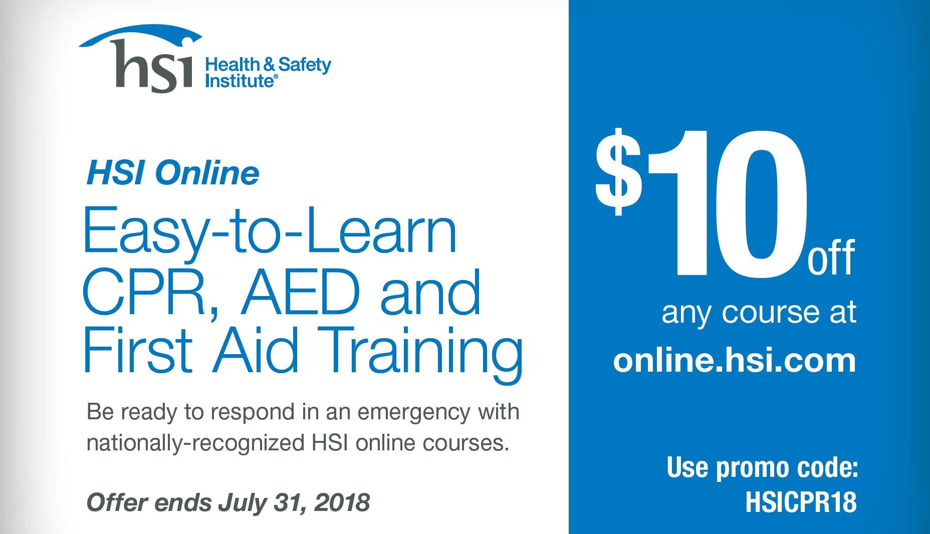 Cpr And First Aid Courses Hsi Online